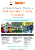 Speech Pathology Essentials for Primary School Teachers