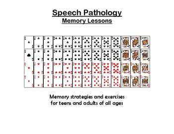 Speech Pathology Memory Lesson Plan for Teens and Adults