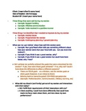 Speech Pathology Reflection Template