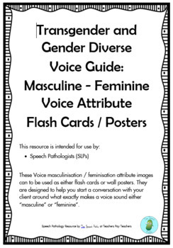 Speech Pathology - Voice Therapy - Transgender Voice Attribute Cards