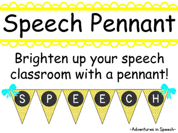 Speech Pennant FREEBIE