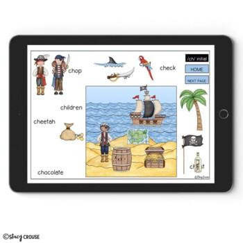Speech Pirates: An Articulation Activity BOOM CARDS™