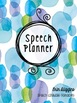 2017-2018 Speech Planner with Editable Cover