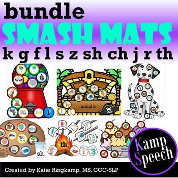 Speech Play Dough Smash Mats: Bundle