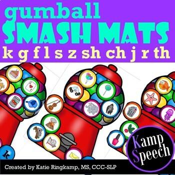Speech Play Dough Smash Mats: Gumballs