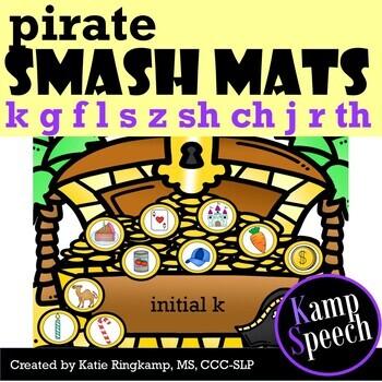 Speech Therapy Activities: Play Dough Smash Mats Pirates