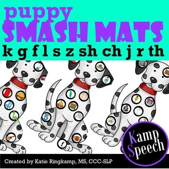 Speech Therapy Activities: Play Dough Smash Mats Dogs