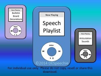 Speech Playlist - Bulletin Board Decorations
