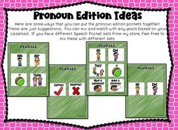 Speech Pockets - Pronouns
