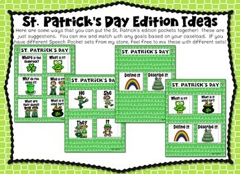 Speech Pockets - St. Patrick's Day Edition
