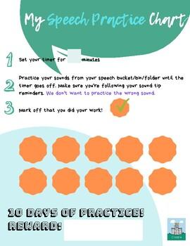 Speech Practice Chart *FREEBIE* made w/ CANVA