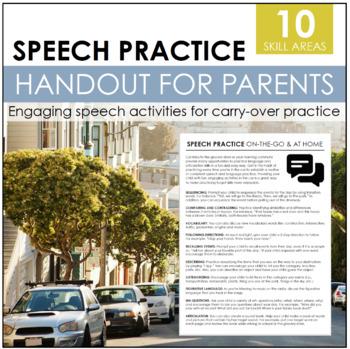 Parent Handout: Speech Practice On The Go