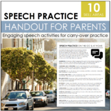 Parent Handout: Speech Practice On The Go