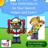 Speech Therapy Homework for Similar Sounding Words