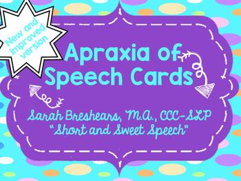 Apraxia of Speech Cards