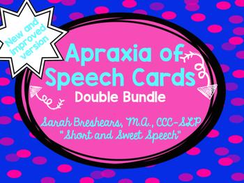 #BestOf2016Sale Apraxia of Speech Cards DOUBLE Bundle
