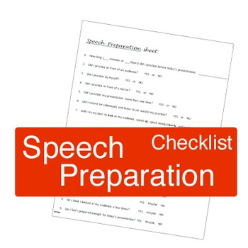 Speech Preparation Sheet and Self Evaluation Form