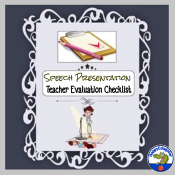 FREE Speech Presentation - Teacher Evaluation Sheet