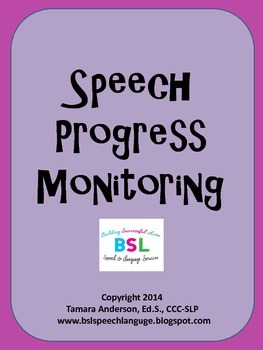Speech Progress Monitoring {Fluency & Intelligibility}