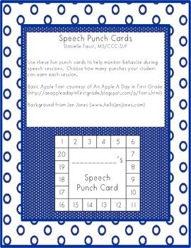 Speech Punch Cards