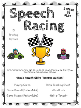 Speech Racing (Articulation Sounds, Phonemes), with Data Progress Monitoring