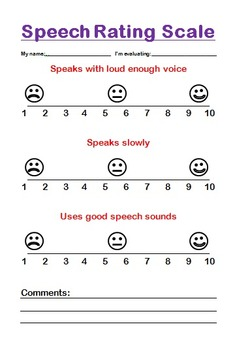 Speech Rating Scale