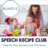 Speech Recipe Club {BUNDLE} 180+ pgs, Sequencing, Retell,