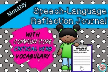 Speech Reflection Booklet {With Common Core Critical Verbs!}
