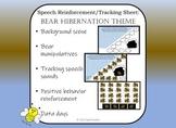 Speech Reinforcement/Positive Behavior Tracking Sheet: Bear Hibernation Theme