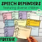 Speech Reminder Notes Freebie