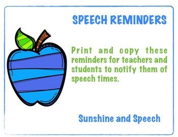 Speech Reminders