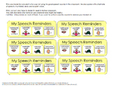 Speech Reminders for Classroom or Self-Monitoring