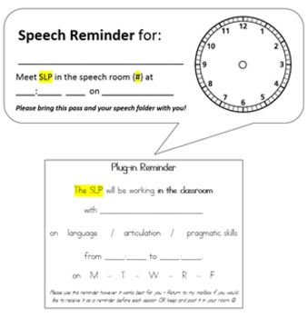 Speech Reminders for SLPs
