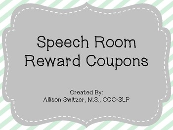 Speech Reward Coupons