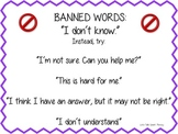 Speech Room Banned Words