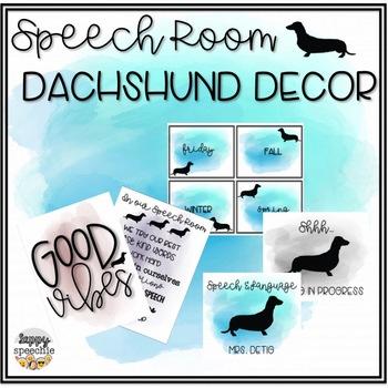 Speech Room Dachshund Decor [customizable]