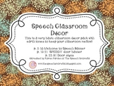 Speech Room Decor ~ Earth Tones