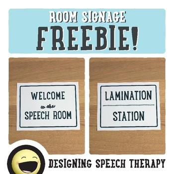 Speech Room Decor FREEBIE