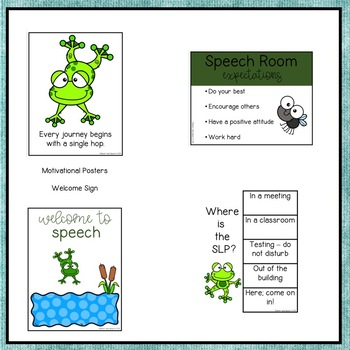 Speech Room Decor {Frogs}