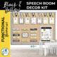 Speech Room Decor Kit {Black & Yellow}