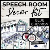 Speech Room Decor Kit {Blue Chevron}