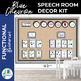 Speech Room Decor Kit {Blue Chevron}