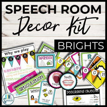 Speech Room Decor Kit {Brights}