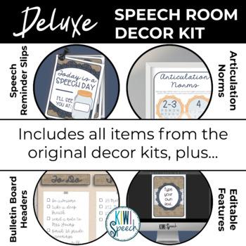 Speech Room Decor Kit {Burlap Chic}