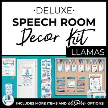 Speech Room Decor Kit {Llamas}
