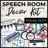 Speech Room Decor Kit {Polka Dots}