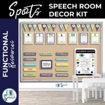 Speech Room Decor Kit {Spots}