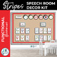 Speech Room Decor Kit {Stripes}