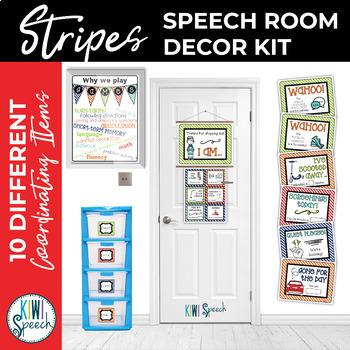 Speech Room Decor Kit {Stripes}