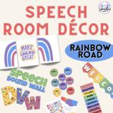 Speech Room Décor | Rainbow Road Color Theme | Rainbow The